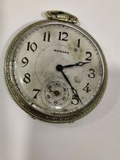 E.HOWARD SERIES 7 MODEL 1912 POCKET WATCH GOLD FILLED c1929 works and keeps time
