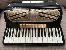 More details for hohner musette iv base accordion rare colour black gold example