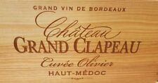 Wooden Wine Box Crate. 6 bottle. French. Genuine Storage Wedding Planter Hamper