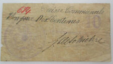 Billet de Nécessité Anseroeul 10 centimes Hainaut 14-18 Noodgeld
