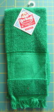 Charles Craft Heritage Collection 100% Cotton Christmas Green Fingertip Towel