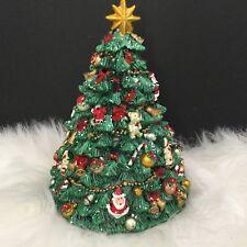 Revolving Musical Christmas Tree Music Box Resin Decorated Gisela Graham