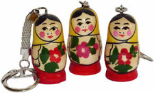 Russian Souvenir Matreshka Key Ring   Charm Keychain   Matryoshka Dolls Nesting