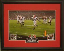 "Georgia Bulldogs vs Oklahoma playoff framed print  ""Later Sooners"" Sony Michel"