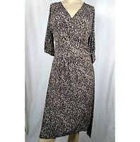 GEORGE Classy Animal Print Knit Wrap DressWomen's Ladies Size Medium 8 / 10