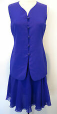 CARLISLE stunning two piece purple silk skirt and tunic , top size 4