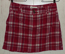 WOMENS ST. JOHN'S BAY petite stretch RED PLAID SKORT  SIZE 6P
