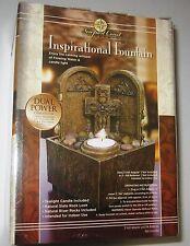 Inspirational Indoor Water Fountain Cross Cordless Newport Coast Collection.NIB.