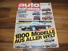 AUTO KATALOG  1989 -- 1800 Modelle aus aller Welt / Betriebskosten -- Preise