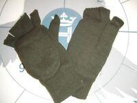 Verde Oliva 3M Thinsulate Termico Caldo Inverno Capped Mezzo senza Dita