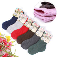6 Pairs Child Girls Boys Kids Cashmere Wool Thicken Warm Multi-Color Socks 2-12Y