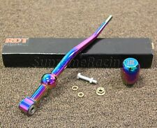 RDT NEOCHROME ALUMINUM Dual Bend Short Shifter+Knob for 88-91 Honda Civic EF CRX