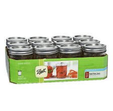 (12 Count) 8OZ Ball Regular Mouth Canning Mason Jars Lids & Bands