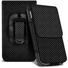 Carbon Fibre Belt Pouch Holster Case Cover For Xiaomi Redmi Note 4G