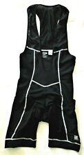 DeSoto Triathlon Cycling Suit Bib Mens L One Piece Black Thinly Padded Seat Logo