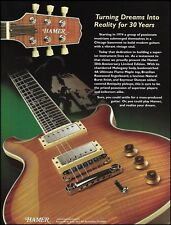 Hamer Guitars 30th Anniversary Guitar 2002 ad 8 x 11 advertisement print