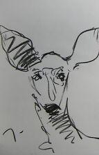 JOSE TRUJILLO Artist ORIGINAL CHARCOAL DRAWING American Art Deer Doe Animal
