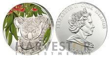 2011 KOALA SCENT OF AUSTRALIA - EUCALYPTUS SCENTED SILVER COIN - COOK ISLANDS