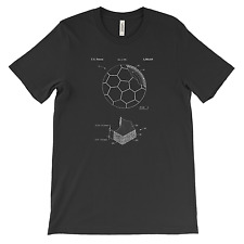 Soccer Ball Patent T-Shirt.100% Cotton Comfy Tee on Black White or Gray. NEW