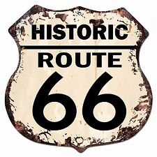 BP-0019 HISTORIC ROUTE 66 Shield Rustic Chic Sign Bar Store Shop Home Decor Gift