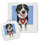 Greater Swiss Mountain Dog Kitchen Dish Towel and Pot Holder Gift Set
