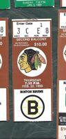 1990 2/22 ticket stub Boston Bruins v Chicago Blackhawks Chicago Stadium