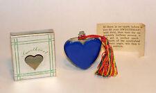 unused 1947 art deco blue bakelite figural heart sweetheart perfume lighter