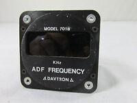 Davtron ADF Frequency Indicator Model 701 701A Aviation Avionics