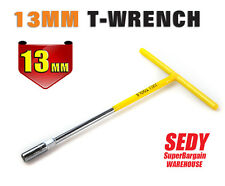 T Bar Nut Driver Deep Drawn Hex 13 mm T Handle Long Socket T Wrench Spanner NEW