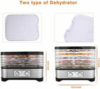 5/7 Stackable Trays Electric Food Dehydrator Machine Fruit Dryer Beef Meat