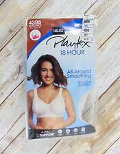 New Womens PLAYTEX 4395 White Smoothing Wireless Full Coverage Bra Size 40DD