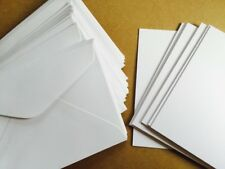 25 White 250gsm Blank cards and 25 C6 white envelopes