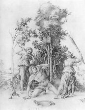 Albrecht Durer: Death Of Orpheus Mythology Engraving Fine Art Canvas Print