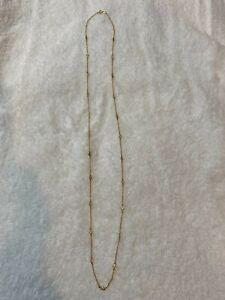 36 inch CZ station necklace