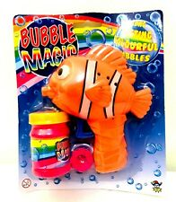 Bubble magic long lasting colourful bubbles Nemo fish toy
