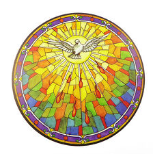 Holy Spirit suncatcher stained glass window sticker reusable 6 inch sun catcher