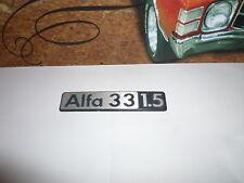 Sigle insigne logo aluminium ALFA ROMEO 33 ALFA33 1.5 emblème de coffre
