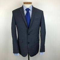 Bar III Blue Crosshatch Mens Slim Fit Wool Suit Jacket Size 38R -135B