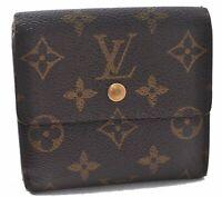 Auth Louis Vuitton Monogram Porte Monnaie Billet Carte Credit M61652 LV A9157