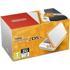 Nintendo 2DS XL Orange & White Handheld System With 4 Games
