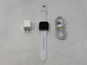 Apple Watch Edition Series 5 Silver Titanium Cellular 40mm w/ White Sport - 7/10