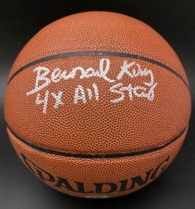 Bernard King SIGNED I/O Basketball + 4 x All Star NY Knicks PSA/DNA AUTOGRAPHED