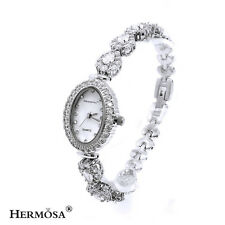 "75% OFF Sterling Silver Bright Shiny White Topaz Bracelets Watches 7.5"",37W"