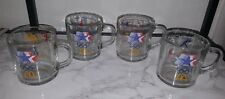 Lot 4 MC DONALD'S OLYMPIC games clear glass cup MUGS 1984 MADE USA, glasses