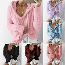 Fleece Sweatshirt Women Hoodies Ladies Long Sleeve Casual Hooded Pullover Jumper