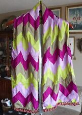 New Paul Smith mens silk scarf, unisex, tassels $695