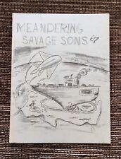 VERY RARE VINTAGE 1967 Meandering Savage Sons Newsletter: U. S. Navy RVAH-5