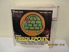 Vintage 1976 Vogart Quick Needlepoint Kit #1444 Happy Turtle Preowned, Unused