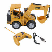 1:24 5 Channel RC Tractor Digger Remote Control Excavator Construction Car Toy❤F