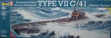 "GERMAN U-BOOT TYPE VII C/41 ""ATLANTIC VERSION"" REVELL 1/144 PLASTIC KIT"